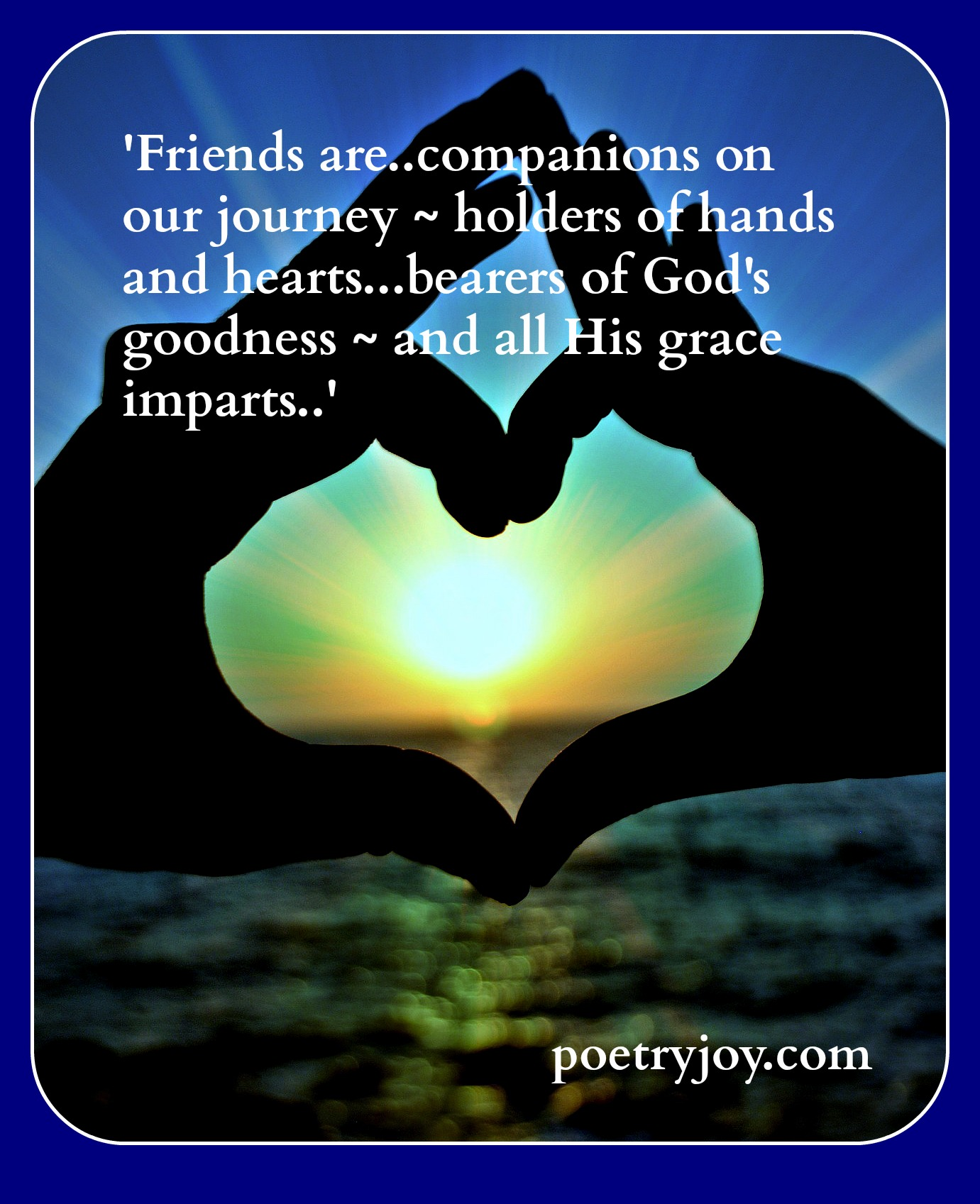The gift of friendship poetry joy