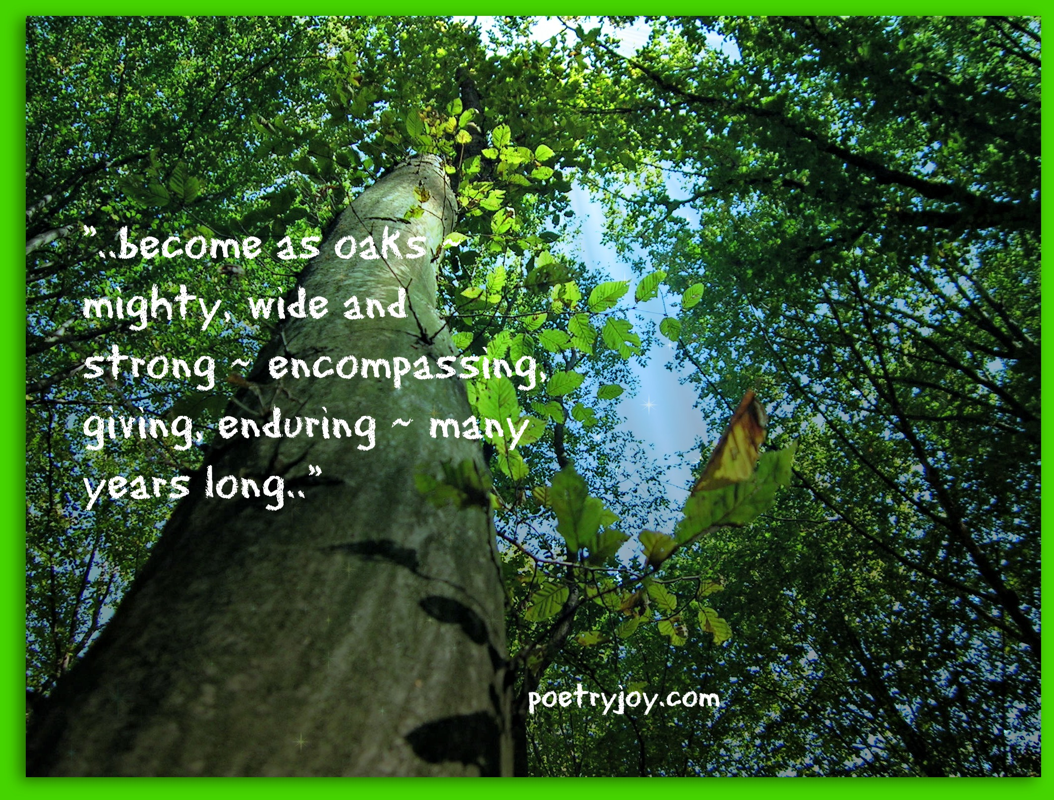 Growing strong | Poetry Joy