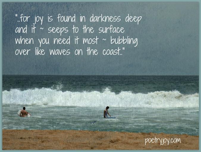 cresting the waves joy poem pin image