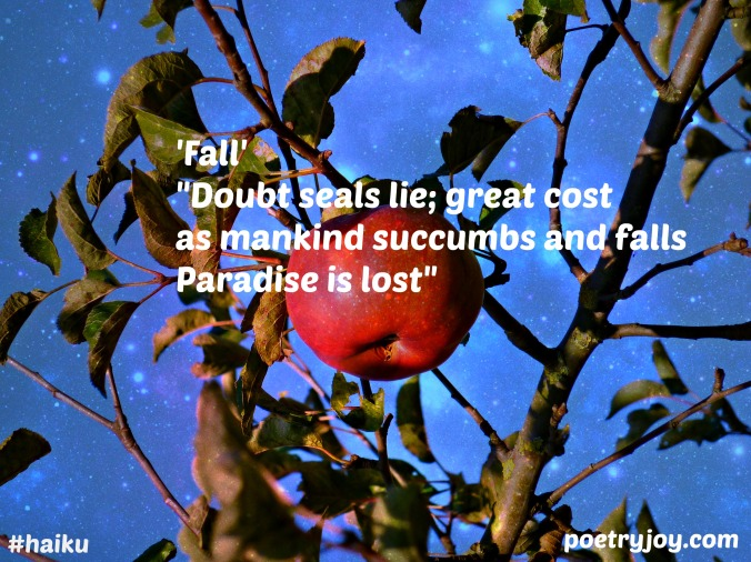 apple ~ fall haiku image pin