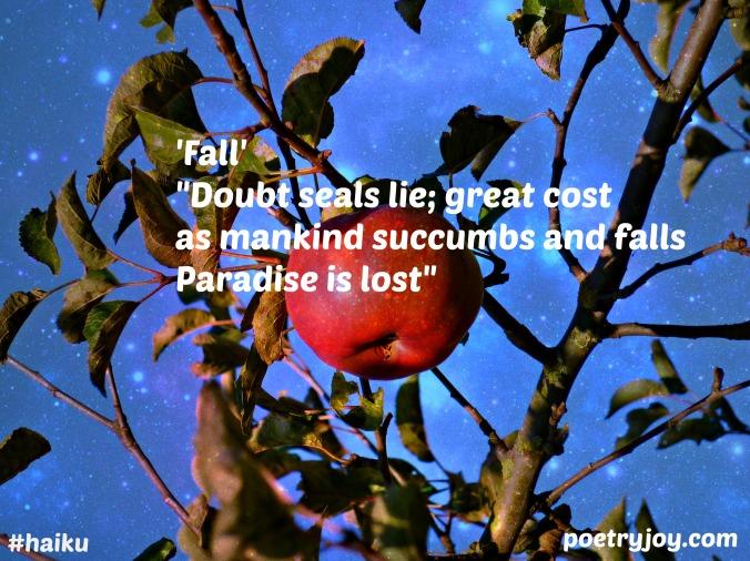 apple ~ fall haiku image pin