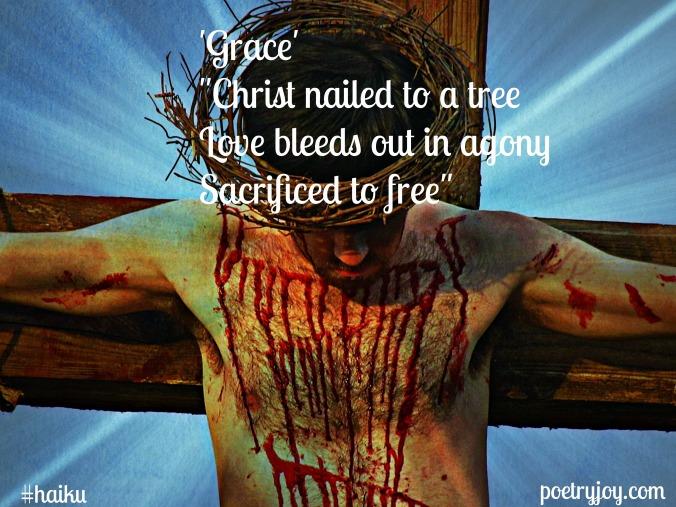 crucifixion ~ grace haiku image pin