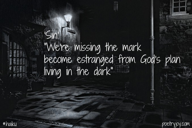 dark ~ sin haiku image pin