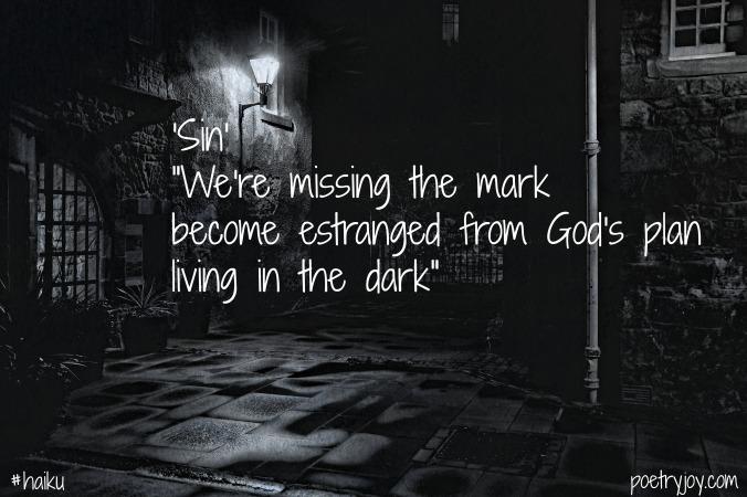 dark ~ sin haiku image pin