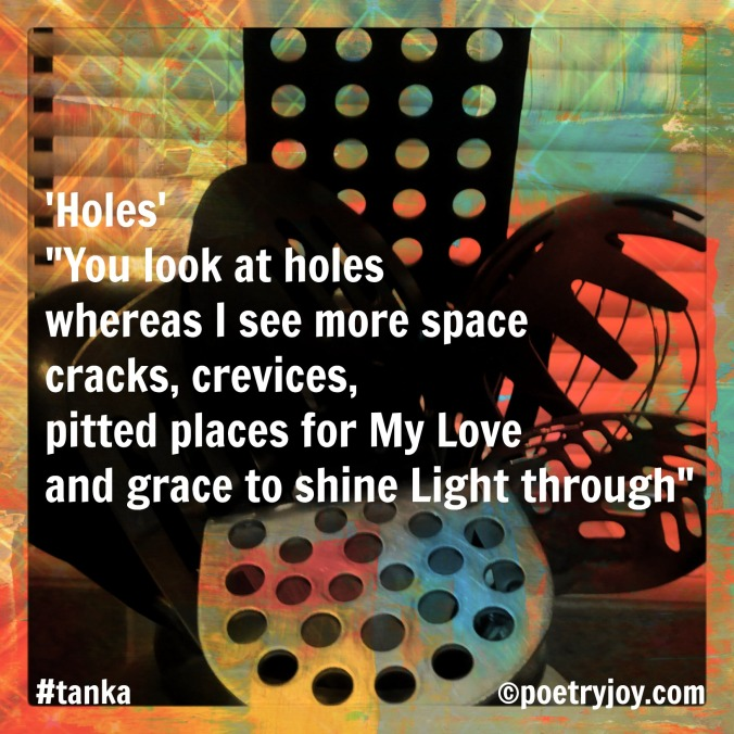 holes ~ tanka poem pin 2