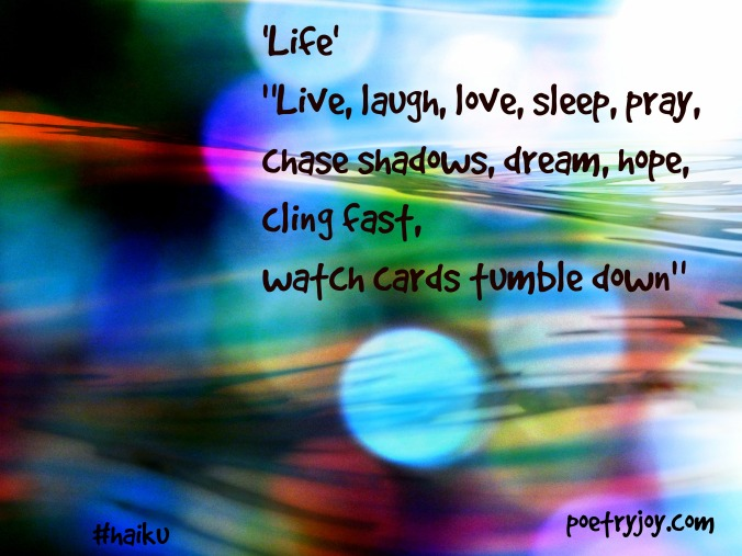 Life haiku image pin