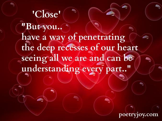 close poem ~ heart image pin