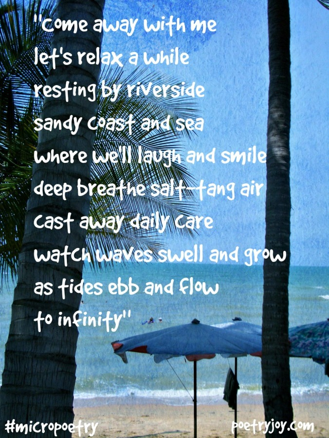 Come away with me beach poem pin image