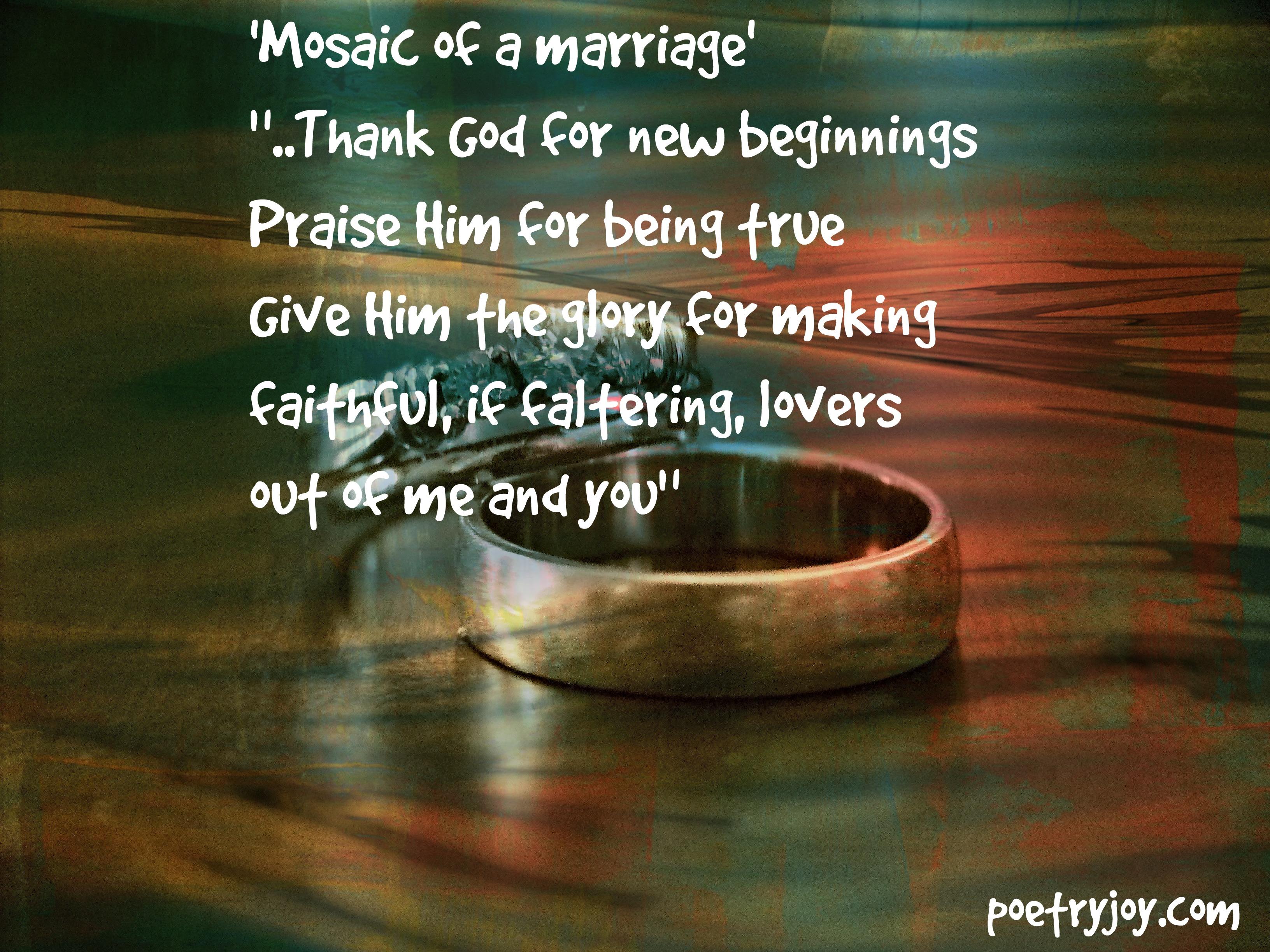 Marriage Poetry Joy