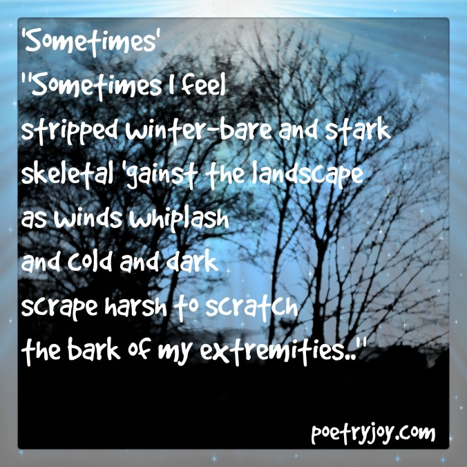 black and white trees ~ Sometimes poem PJ pin