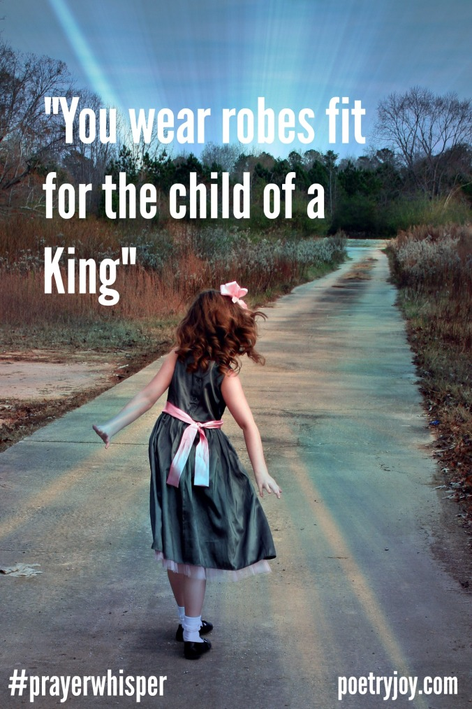 girl wearing robes fit for the child of a King ~ PJ new identity file image pin