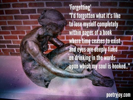 book reader ~ Forgetting  poem PJ file image pin