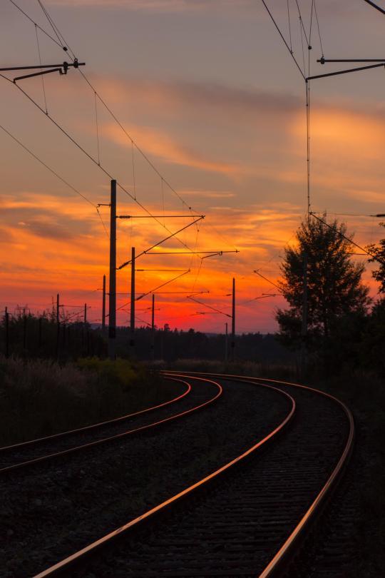 Evening rails