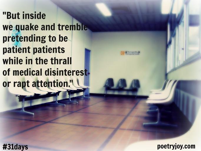 hospital waiting room PJ poem file pin image