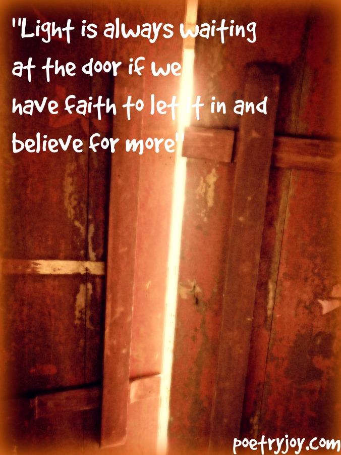 door letting in light vestiges PJ file pin image