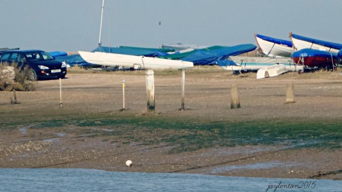 boats beached at blakeney quay - PJ file