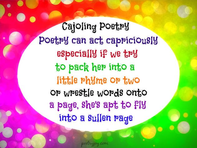 cajoling poetry pin PJ