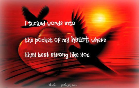 tucked into haiku PJ pin