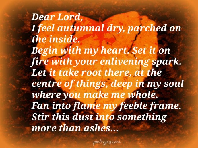 autumnal heart prayer pin