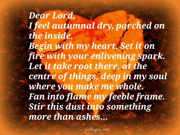 autumnal heart prayer pin
