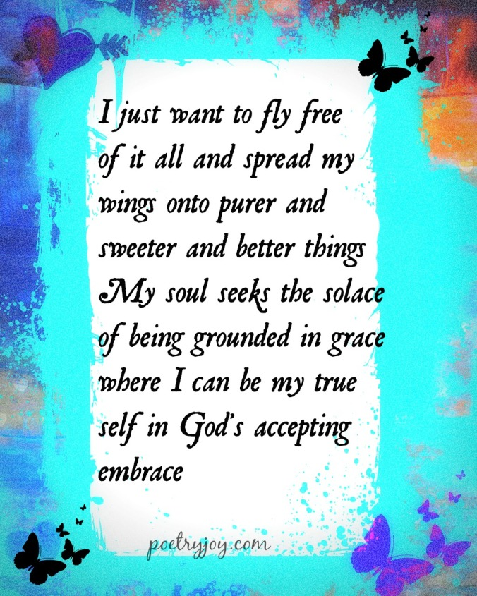 fly free PJ poem pin