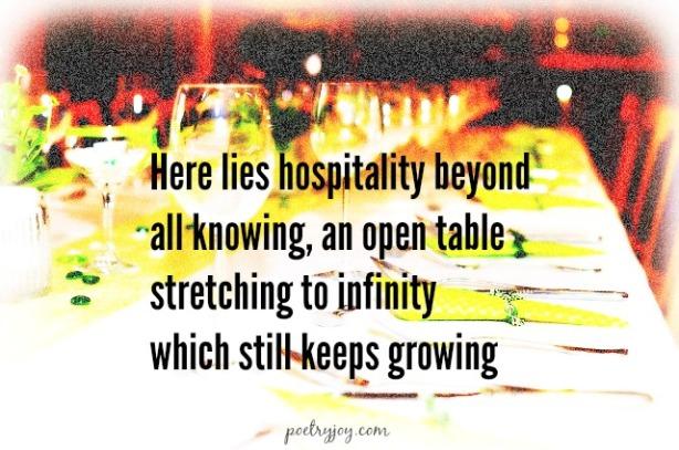 hospitality table FMF PJ