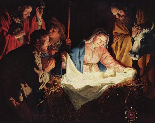 manger nativity PJ