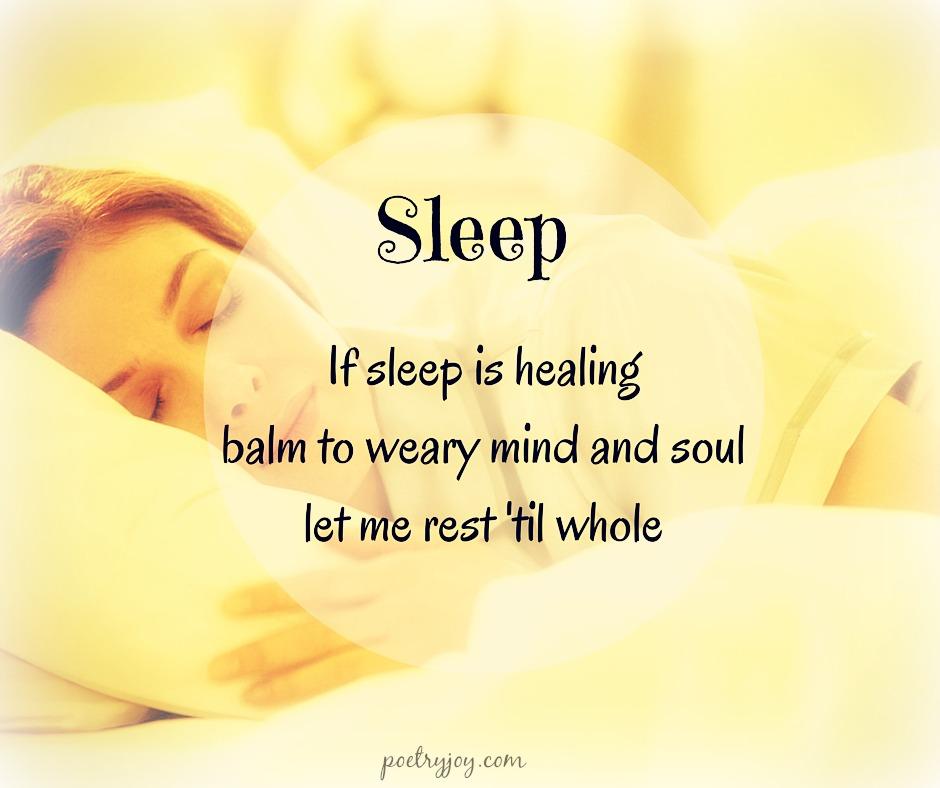 sleep haiku - poetry joy