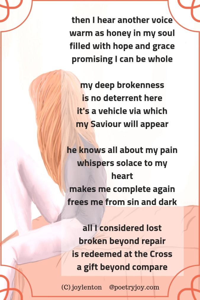 complete - poem excerpt (C) joylenton - sad girl sitting on a bed @poetryjoy.com