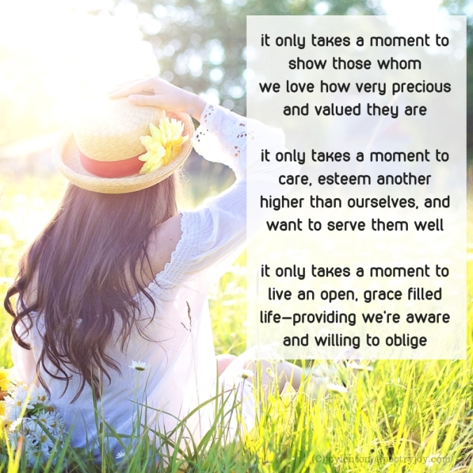 moment - it only takes a moment poem excerpt (C)joylenton @poetryjoy.com