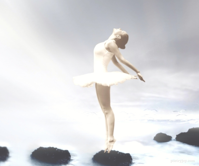 ballerina on a rock - who_ searching for our true soul identity @poetryjoy.com