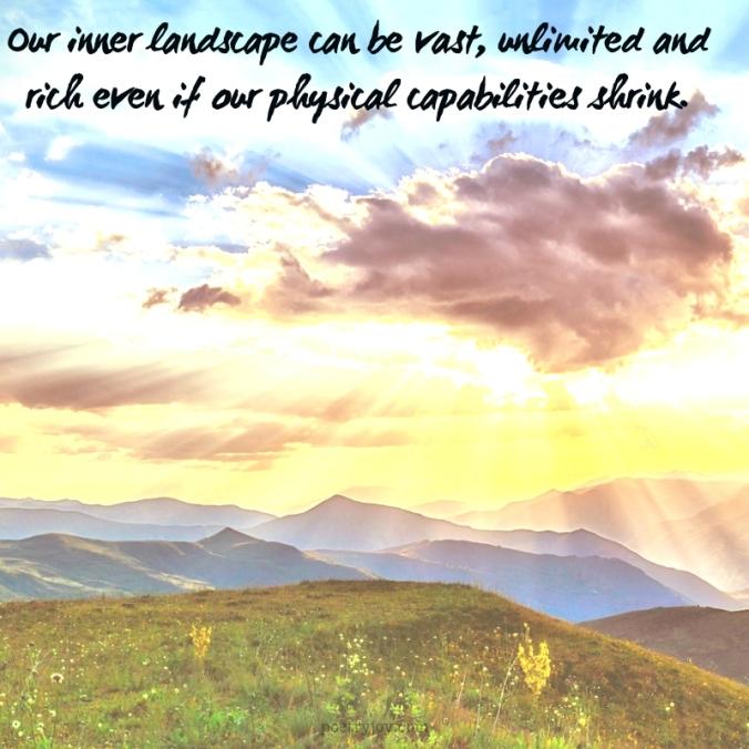 mantle - Our inner landscape quote (C)joylenton @poetryjoy.com