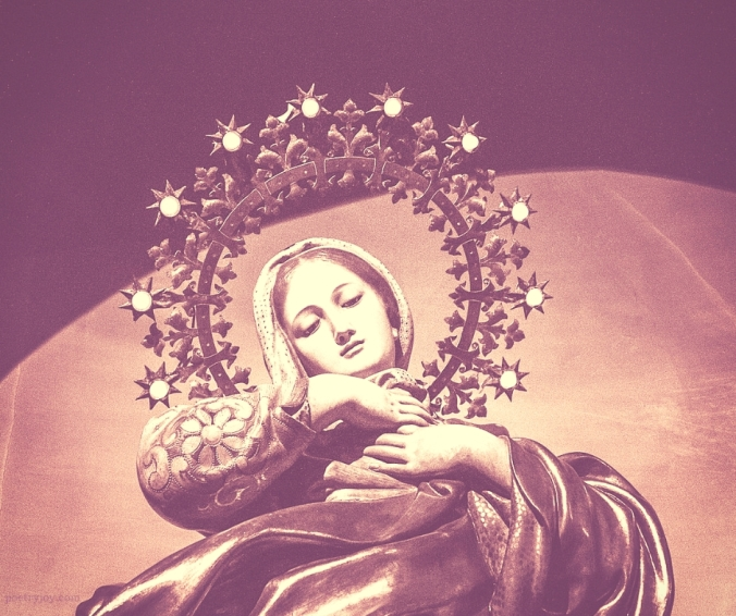 mantle - the virgin mary @poetryjoy.com