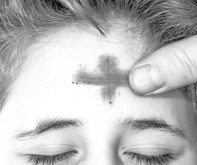 inside - Ash Wednesday - smudge on forehead @poetryjoy.com