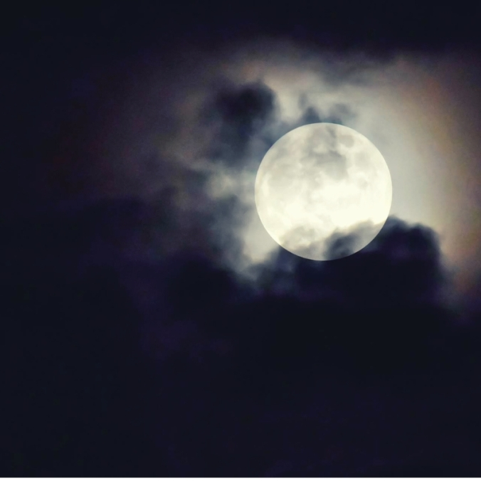 silvery moon - touch - benediction poem image @poetryjoy.com