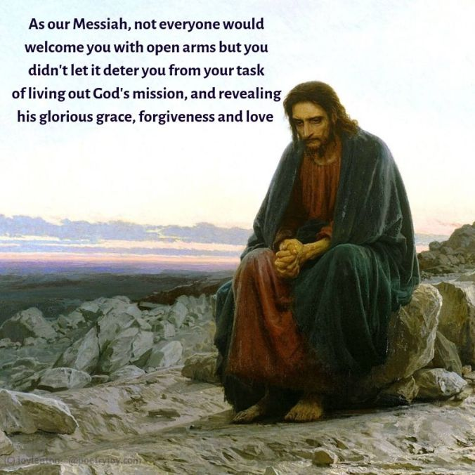 culture - countercultural poem excerpt - As our Messiah quote (C) joylenton @poetryjoy.com