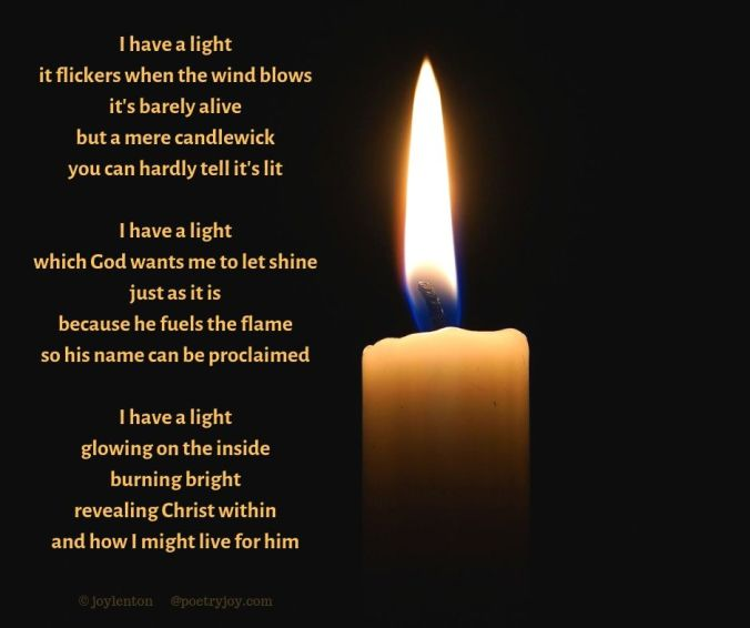 name - candle flame - I have a light poem excerpt (C) joylenton @poetryjoy.com