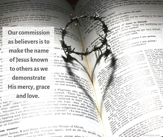 name - Our commission as believers quote (C) joylenton @poetryjoy.com