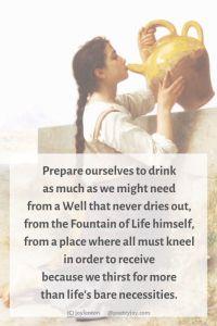 thirst - woman drinking from a jug - thirsty poem excerpt (C) joylenton @poetryjoy.com