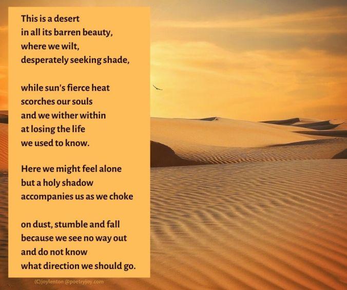 desert - sand - wilderness poem excerpt (C) joylenton @poetryjoy.com