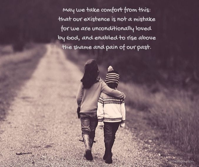 loved - one child comforting another - may we take comfort quote (C) joylenton @poetryjoy.com