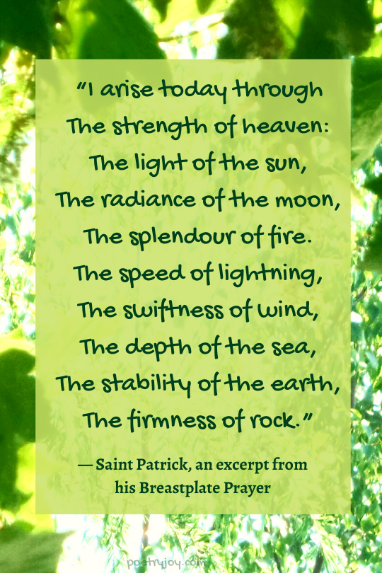 melody - excerpt from Saint Patrick's breastplate prayer @poetryjoy.com