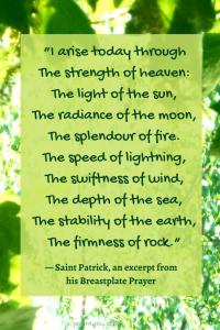 melody - excerpt from Saint Patrick's breastplate prayer @poetryjoy.com