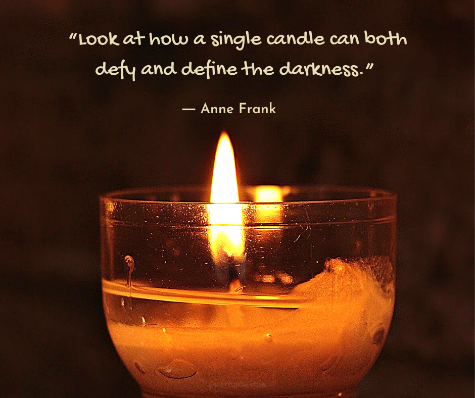 light - Anne Frank quote about light - candle - @poetryjoy.com