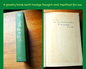 memoir - a poetry book aunt madge bought and inscribed for me (C) joylenton @poetryjoy.com