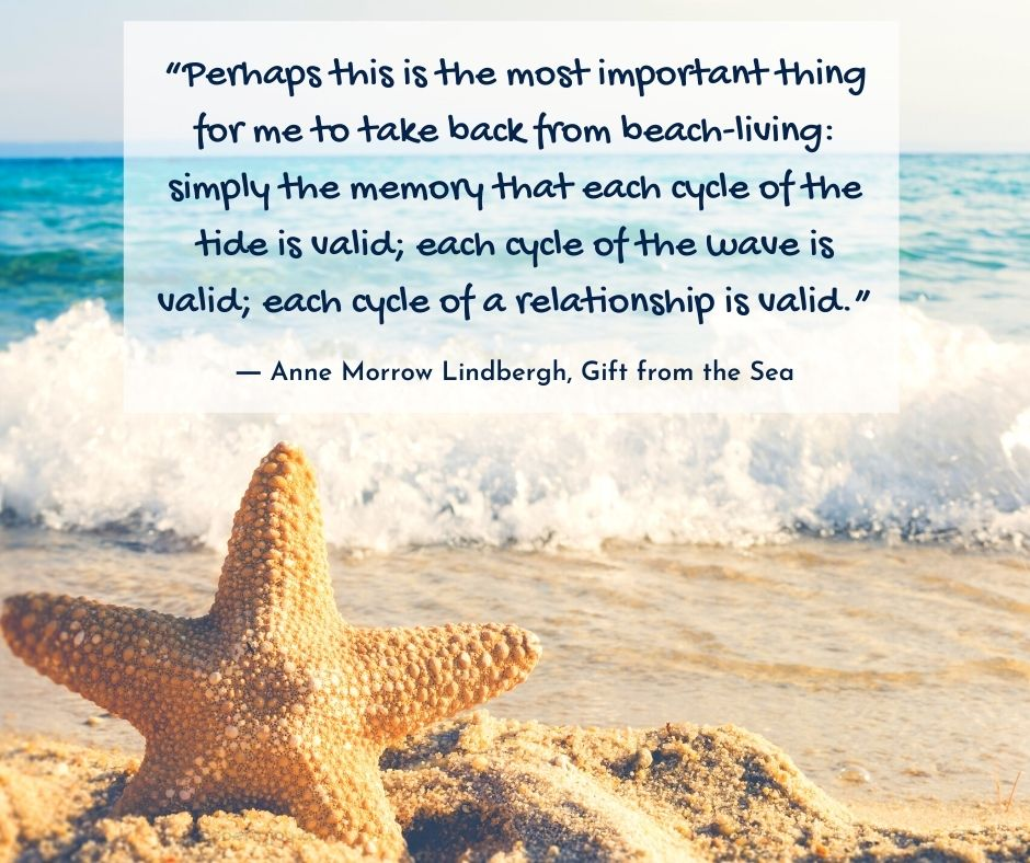 "wave - ""Perhaps this is the most important thing for me to take back from beach-living quote by Anne Morrow Lindbergh in Gift From the Sea @poetryjoy.com"