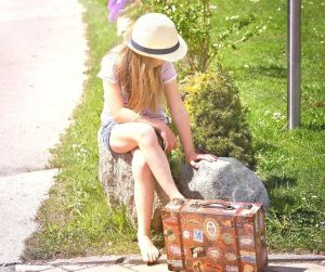 waiting - girl sitting by the roadside - when desire gives way to deeper surrender @poetryjoy.com