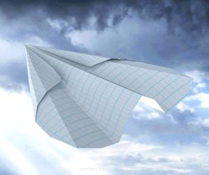 prayer - paper aeroplane - it makes a greater difference than we know - Joy Lenton @poetryjoy.com