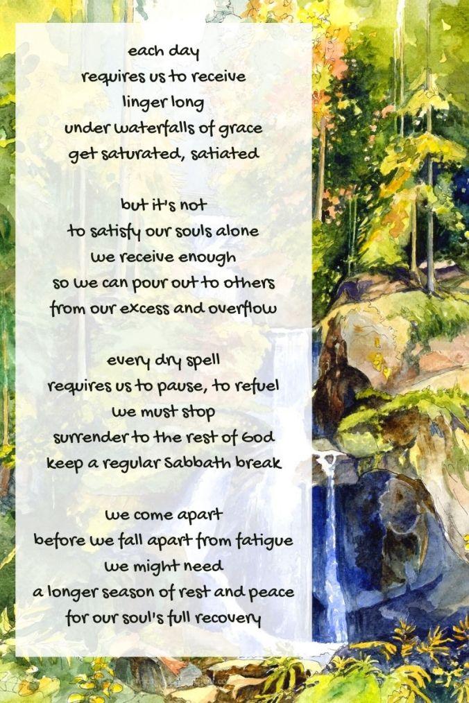 waterfalls poem excerpt - waterfall - landscape - (C) joylenton @poetryjoy.com